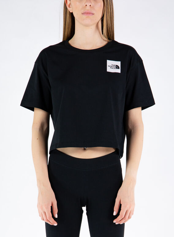 T-SHIRT CROPPED FINE, JK31TNFBLACK, medium