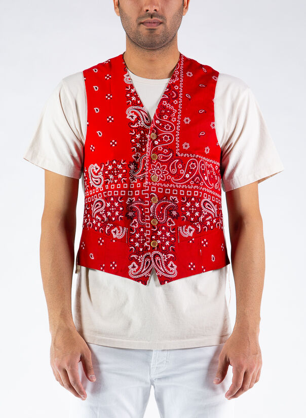 GILET PAISLEY, RED, large
