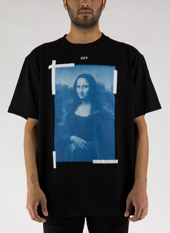 T-SHIRT BLUE MONALISA OVER TEE, 1001BLACKWHITE, medium