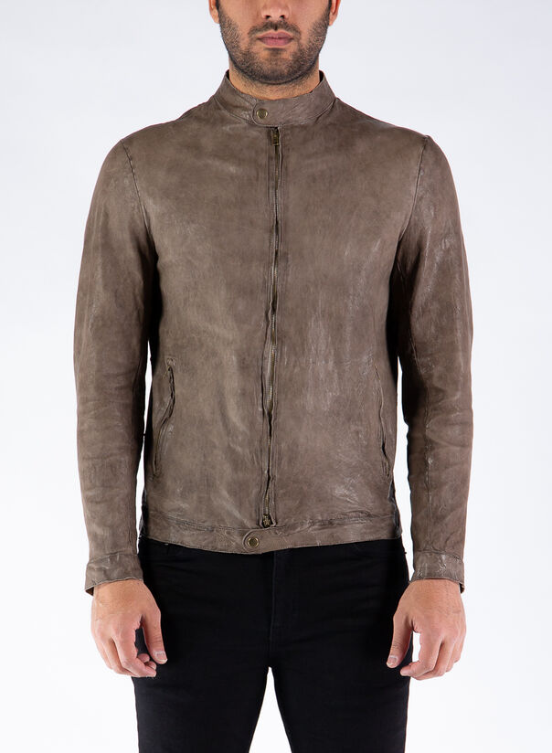 GIACCA BIKER, TAUPE, large