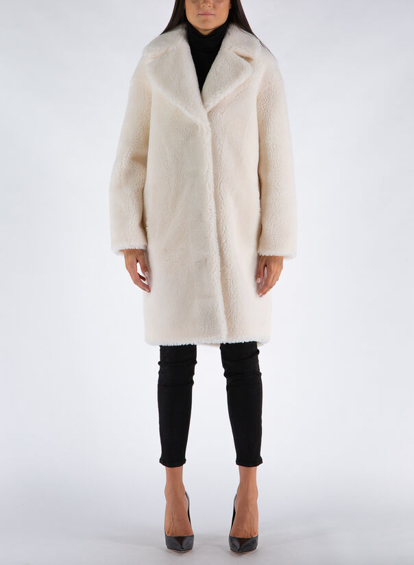 CAPPOTTO CAMILLE COCOON COAT, 90000WHITE, large