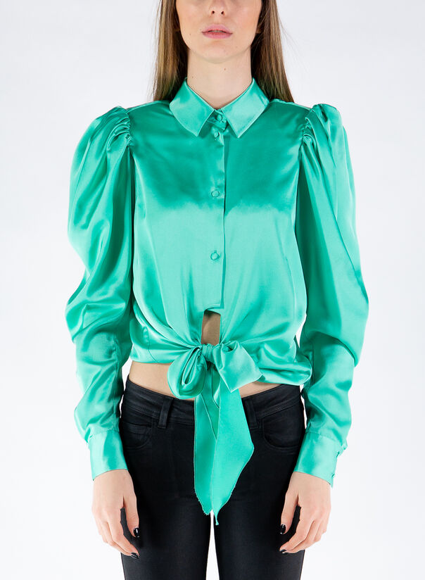 CAMICIA THE BOW, MINT, large