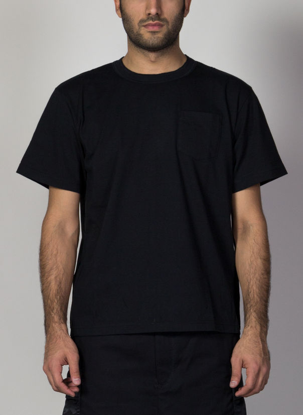 T-SHIRT COTTON, BLACK1, large