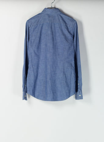 CAMICIA DENIM, COBALT, small