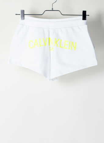 SHORTS JOGGING BLACK LOGO, YAFBRIGHTWHITE, small