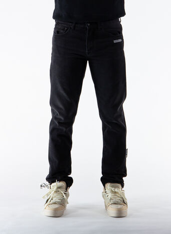 JEANS SLIM, BLACK/WHITE, small