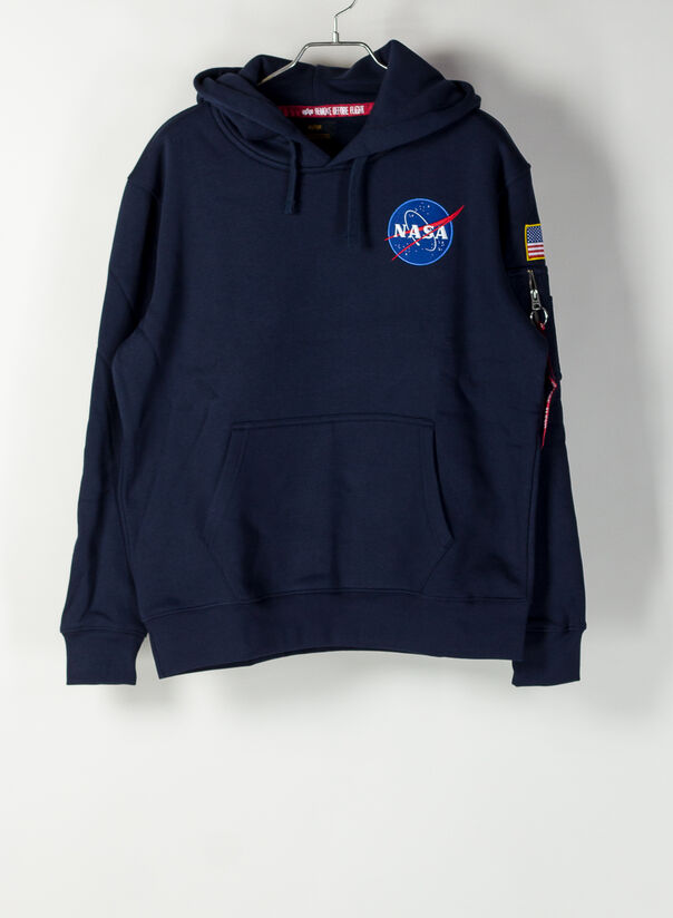 FELPA SPACE SHUTTLE HOODY, 07REPBLUE, large