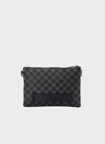 POCHETTE HENNY BLACK CROSSOVER CLUTCH, BLACKHENNY, small