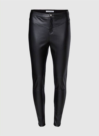 LEGGINGS IN ECOPELLE, BAECKBLACK, small