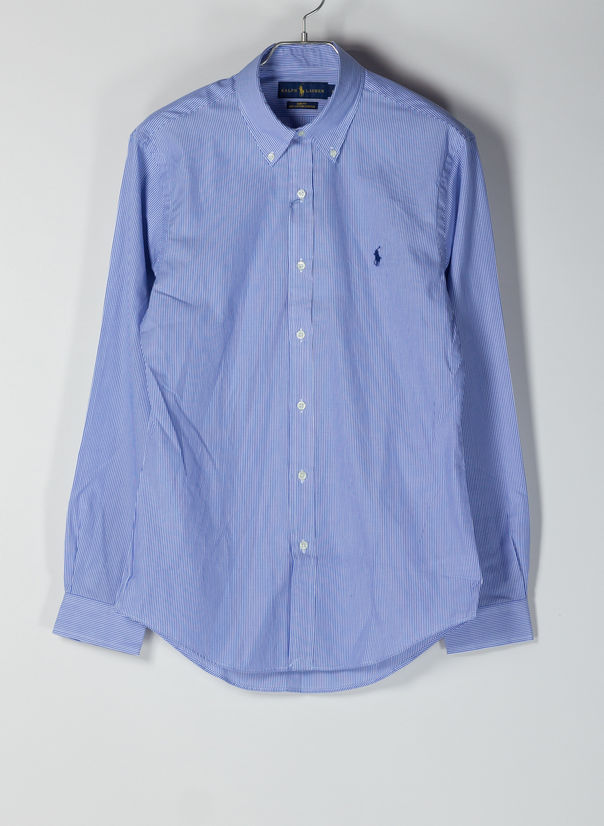 CAMICIA A RIGHE, 2866BLUEWHITEHAIRLIN, large