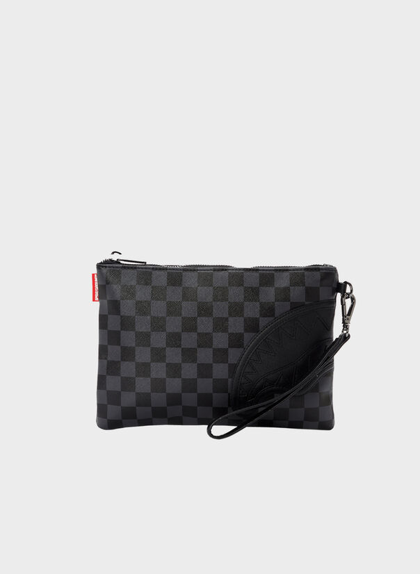 POCHETTE HENNY BLACK CROSSOVER CLUTCH, BLACKHENNY, large