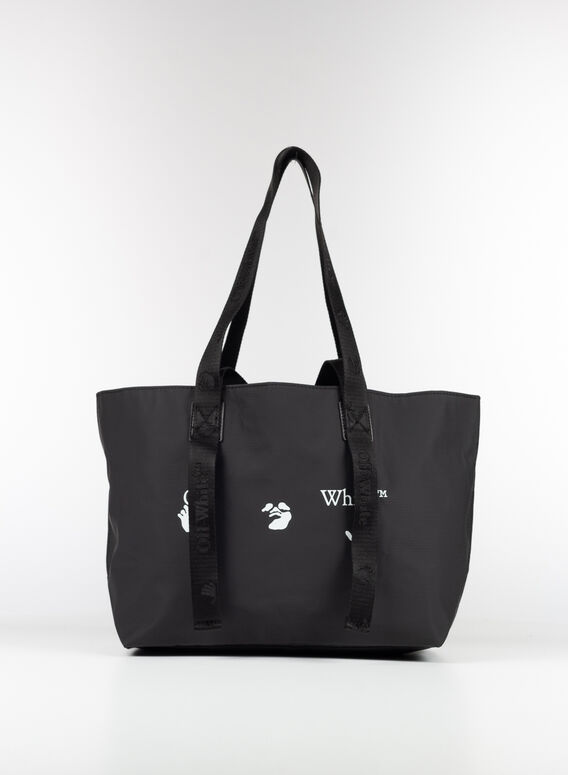 BORSA LOGO SMALL TOTE, 1001BLACK/WHITE, medium