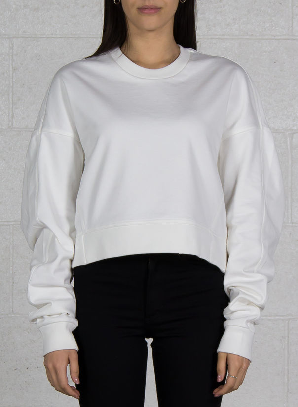 FELPA YOHJI LOVE CREW SWEATER, COREWHITE, large