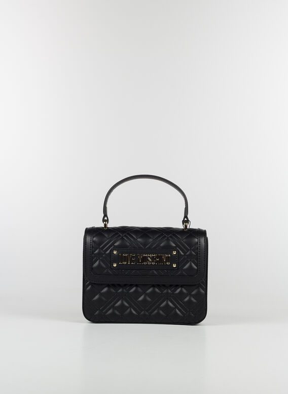 BORSA TRACOLLA ROMBI, 000NERO, medium
