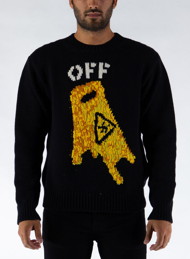 MAGLIONE PASCAL WET FLOOR CREWNECK, 1018BLACK/YELLOW, large