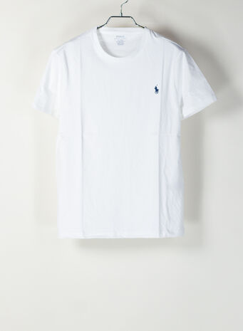 T-SHIRT LOGO, WHITE, small