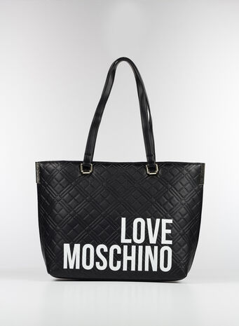 BORSA SHOPPING LOVE MOSCHINO, 00A, small