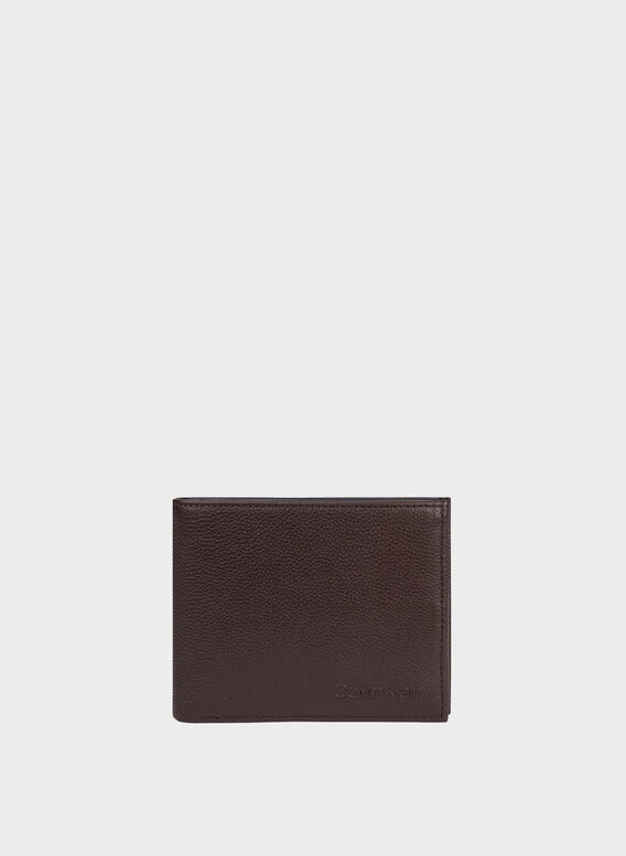 PORTAFOGLIO LEATHER, BROWN, medium