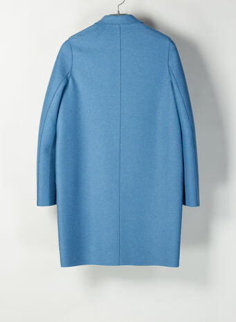 CAPPOTTO COCOON IN LANA, 325DUSTYBLUE, small