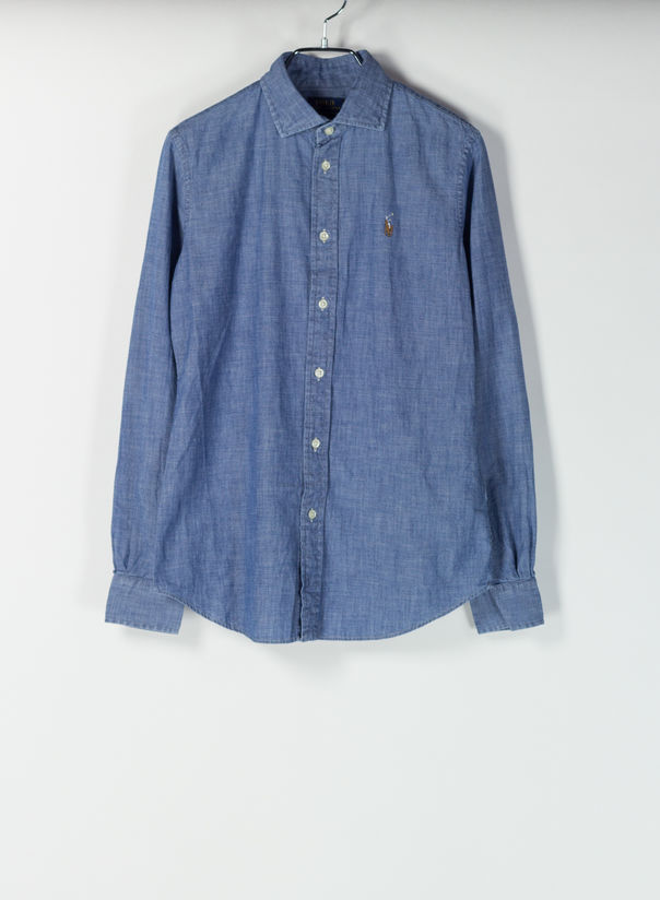 CAMICIA DENIM, COBALT, large