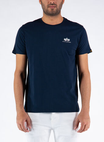 T-SHIRT BASIC SMALL LOGO, 07REPLBLUE, small