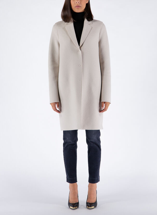 CAPPOTTO COCOON IN LANA, 412CREAM, large