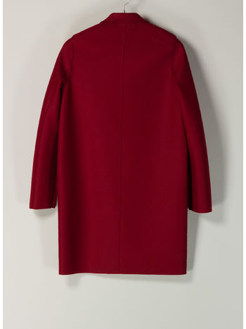 CAPPOTTO COCOON IN LANA, 542RED, small