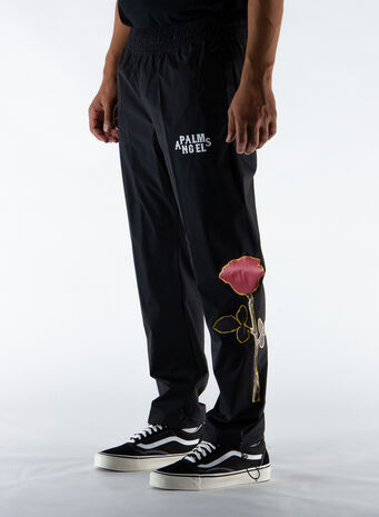 PANTALONE SIDE ROSES AFTERSPORTS, BLACK/RED, small