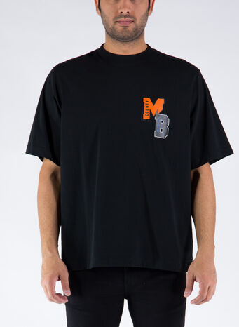 T-SHIRT MB COLLEGE OVER, 1020BLACKORANGE, small