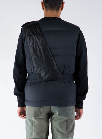 SMANICATO DOWN VEST C.R I, BLACK, small