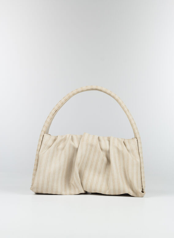 BORSA HERA BRAID, IVORY, medium
