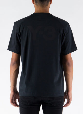 T-SHIRT BACK LOGO, BLACK, small