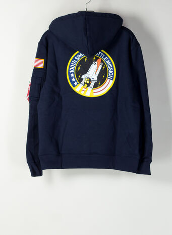 FELPA SPACE SHUTTLE HOODY, 07REPBLUE, small