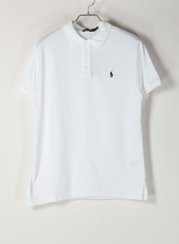 POLO A MANICHE CORTE, WHITE, large