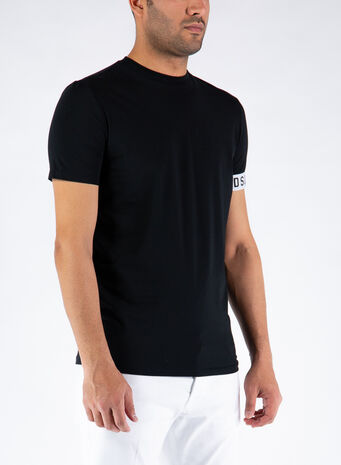 T-SHIRT ICON, 010BLACK/WHITE, small