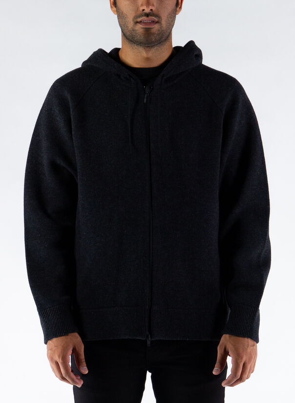 MAGLIONE KNIT FULL ZIP HDY, CHARCOAL, large