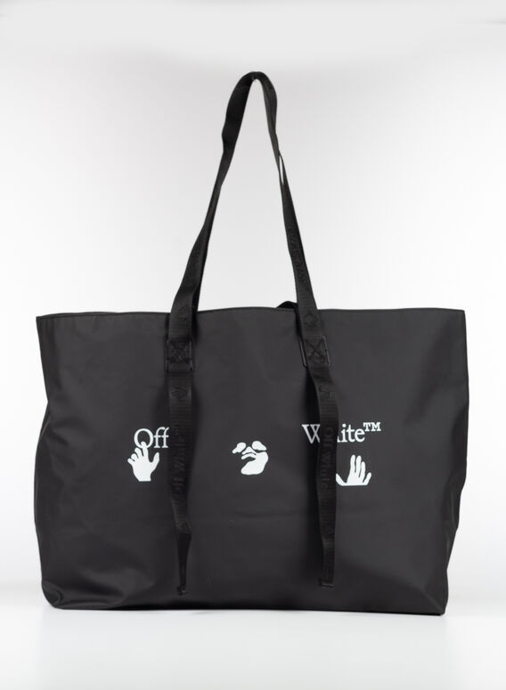 BORSA LOGO TOTE, 1001BLACK/WHITE, medium