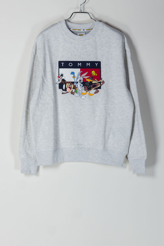 FELPA TJM LOONEY TUNES CREW, PALEGREYHTR, medium