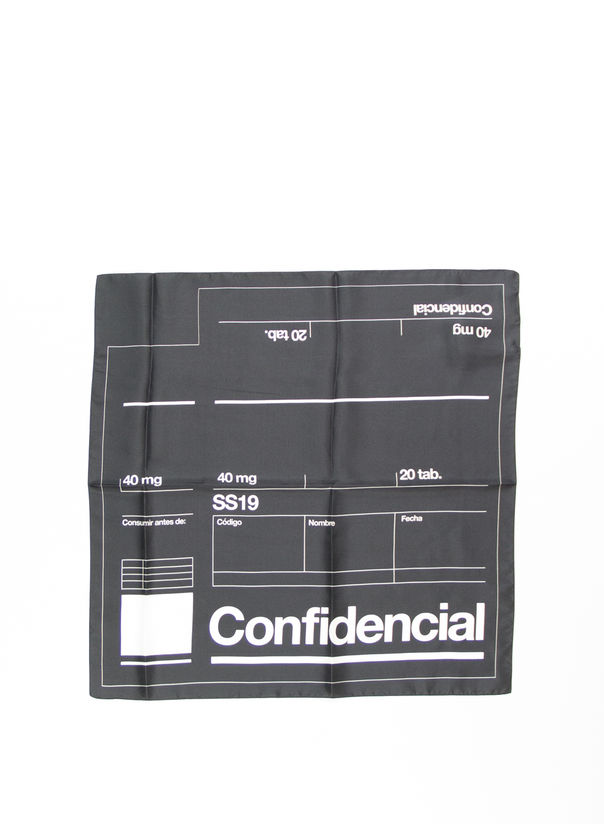 BANDANA LABEL, BLACK/WHITE, large