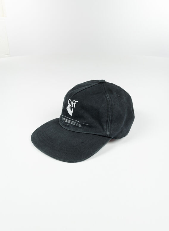 CAPPELLO HAND OFF BASEBALL CAP, 1001BLACKWHITE, medium