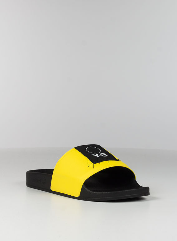 CIABBATTA Y-3 ADILETTE, YELLOW/BLACK/YELLOW, medium