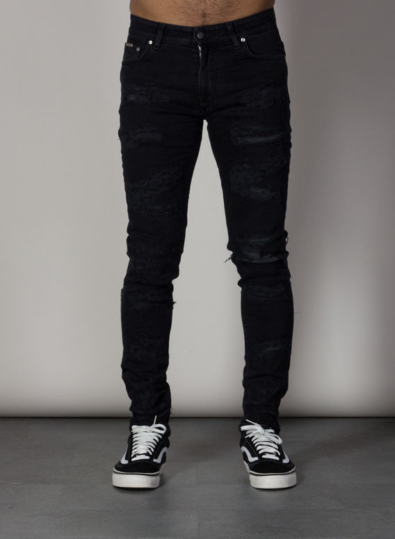 JEANS SHREDDED DENIM, VINTAGEBLACK, medium