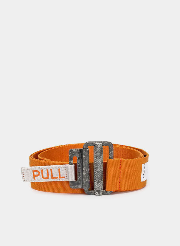 CINTURA KK TAPE BELT, ORANGE, large