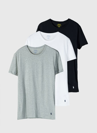 T-SHIRT 3PACK, 001BLK/GRY/WHI, small