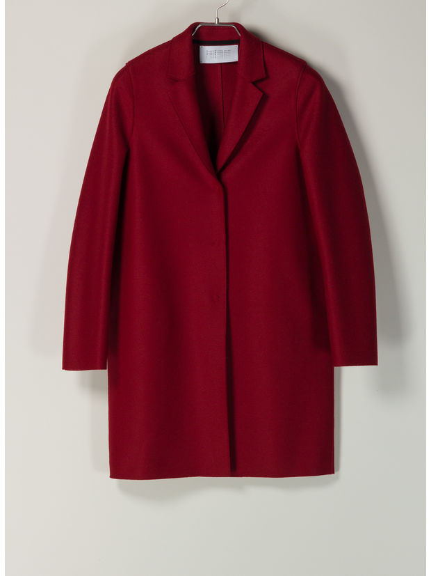 CAPPOTTO COCOON IN LANA, 542RED, large