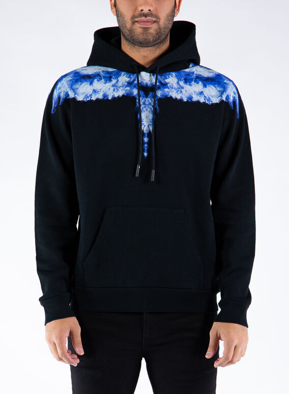 FELPA LIGHT BLUE WINGS HOODIE, 1042BLACKDUSTY, medium