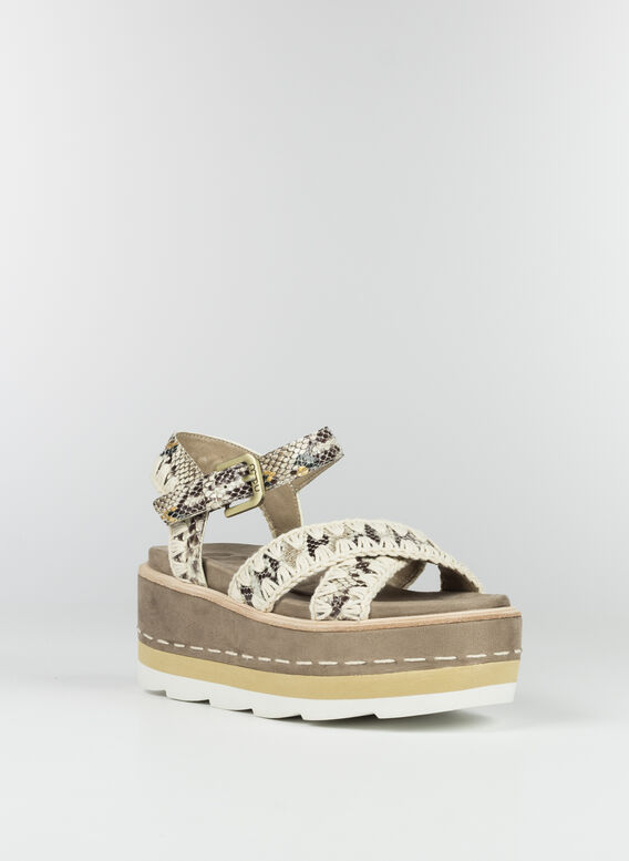 SANDALO PLATFORM CRISS-CROSS UPPER, RKSNA, medium