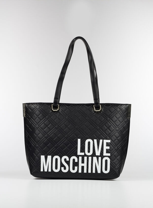 BORSA SHOPPING LOVE MOSCHINO, 00A, large