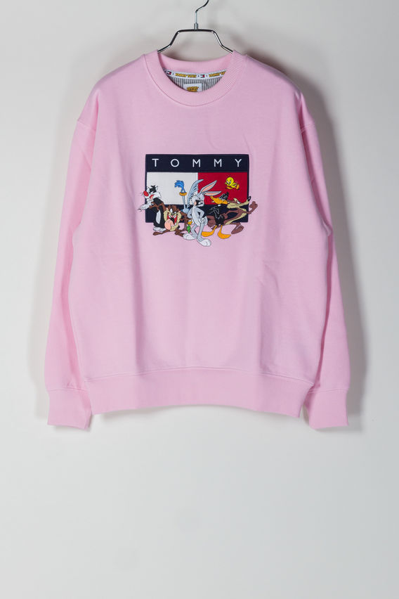 FELPA TJM LOONEY TUNES CREW, ROMANTICPINK, medium