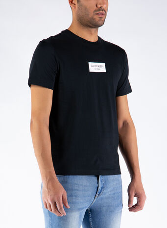 T-SHIRT CHEST BOX LOGO, BEH/CKBLACK, small